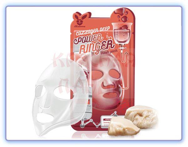 Маска для лица тканевая Elizavecca COLLAGEN DEEP POWER RING MASK PACK