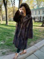 мягкое золото, купить шубу из седого соболя цены в Москве фото