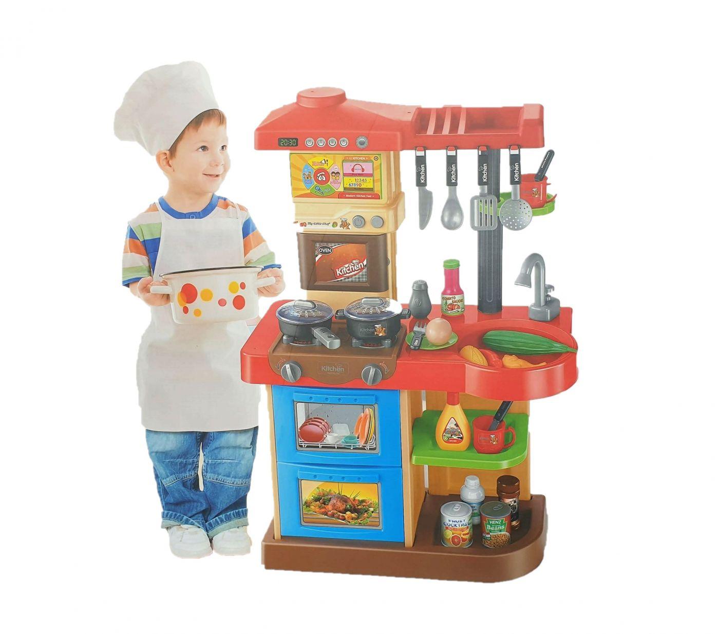 WD-R16 Кухня игровая интерактивная с пультом, водой, большой мойкой