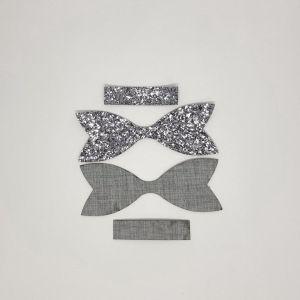 `Вырубка ''Хвост Бант Классический-2, набор - 2 комплекта'', размер: 74*27 мм, иск.кожа(PU) 0,8 мм, JD8015-61