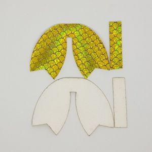 `Вырубка ''Хвост Бант-14, набор - 2 комплекта'', размер: 66*47 мм, иск.кожа(PU) 0,7 мм, JD2013-5