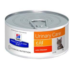 Hill's Prescription Diet Feline (cans) c/d Multicare Minced with Chicken 24/156g