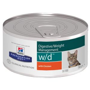 Hill's Prescription Diet Feline (cans) w/d Minced with Chicken 24/156g
