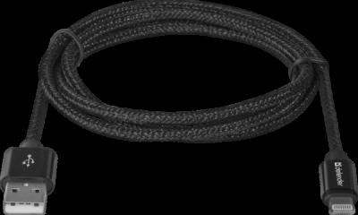 НОВИНКА. USB кабель ACH01-03T PRO USB2.0 Черный, AM-LightningM, 1m,2.1A