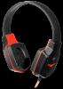 Игровая гарнитура Warhead G-320 черный+красный, кабель 1.8 м