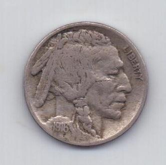 5 центов 1916 года Редкий год США