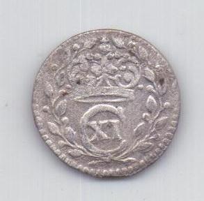 1 оре (эре) 1667 года Швеция