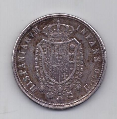 120 гран - талер 1818 года XF Неаполь Сицилия