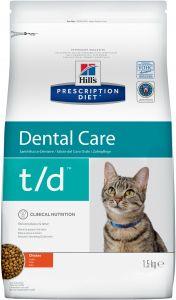 Hill`s PD Feline t/d (Зубной камень и заболевания полости рта)