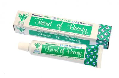 """""""Fudo Kagaku"""" """"Binotomo Aloe"""" Отбеливающая зубная паста для всей полости рта с алоэ 80г"""