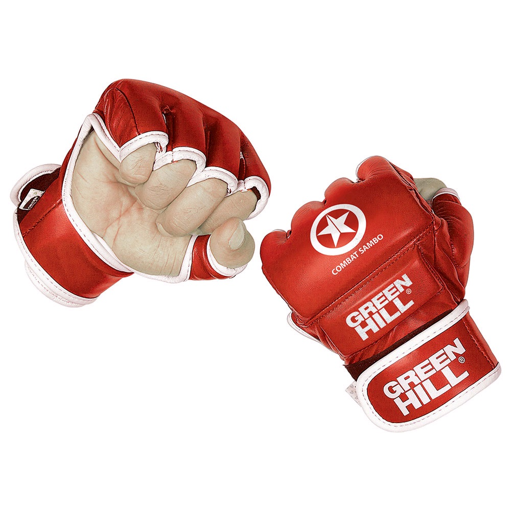 Перчатки для ММА GREEN HILL COMBAT SAMBO MMR-0027-CS красные