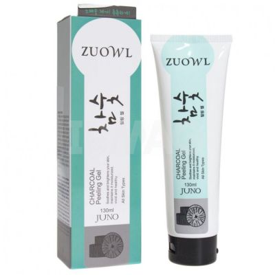 Пилинг-гель для лица Juno Уголь для всех типов кожи, особенно для жирной кожи 130мл