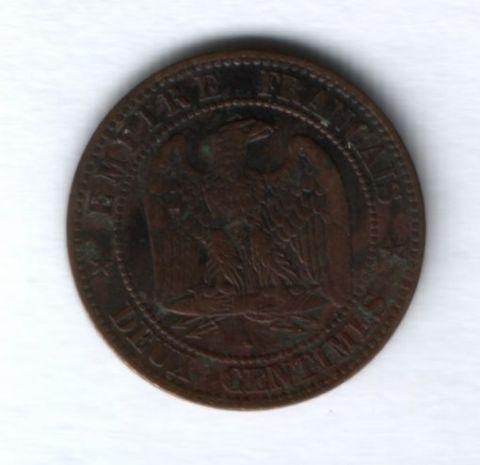 2 сантима 1861 года Франция
