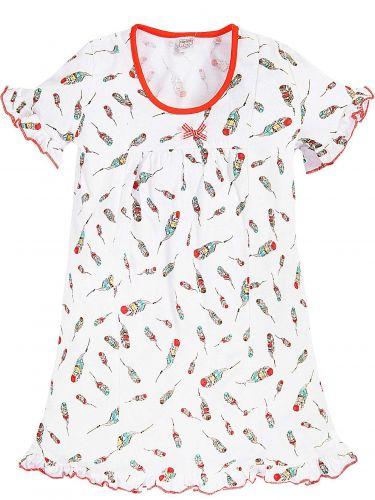 Сорочка для девочек 7-11 лет Bonito BK1219P белая, оранжевая