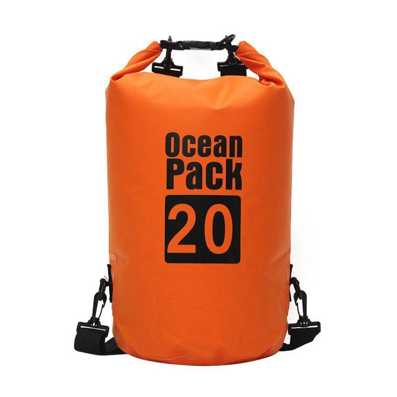 Водонепроницаемая Сумка-Мешок Ocean Pack, 20 L, Цвет Оранжевый