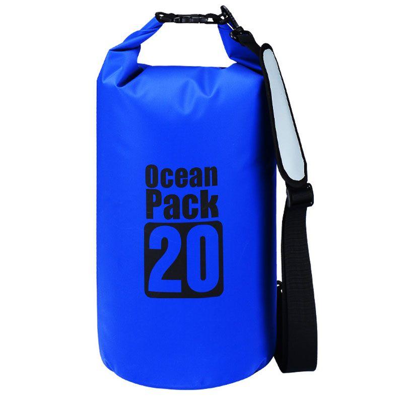 Водонепроницаемая Сумка-Мешок Ocean Pack, 20 L, Цвет Голубой