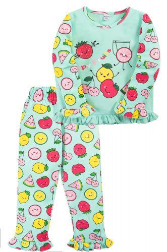 Пижама для девочки 2-5 лет Bonito BK3005PJ зеленая