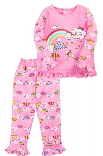 Пижама для девочки 2-5 лет Bonito BK3005PJ розовая