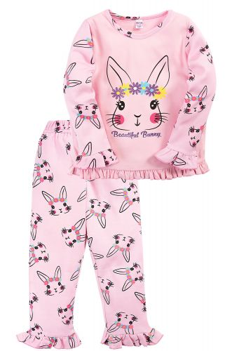 Пижама для девочки 2-5 лет Bonito BK3005PJ светло-розовая