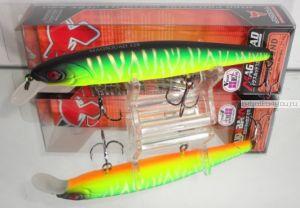 Воблер Jackall Mag Squad 128SP 128 мм / 21 гр / Заглубление: 1 - 1,5 м / цвет: uv mat tiger