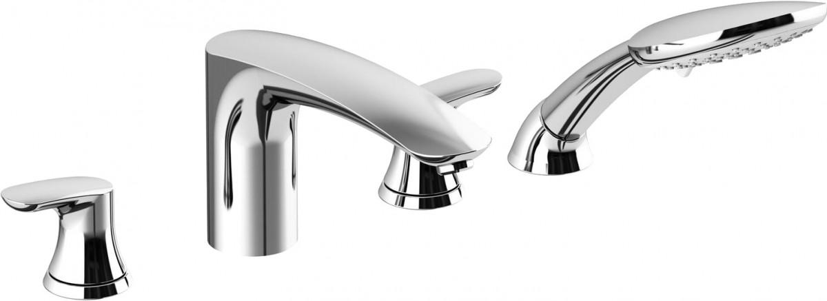 Двухрычажный смеситель для ванны с душем AM.PM Like F8001300