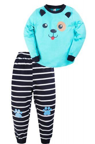 Пижама для мальчика 3-7 лет Bonito BK977PJ голубая, щенок
