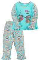 Пижама для девочки 2-5 лет Bonito BK3005PJ бирюзовая