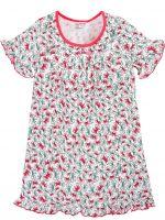 Сорочка для девочек 7-11 лет Bonito BK1219P белая, красная