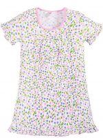 Сорочка для девочек 2-6 лет Bonito BK1253P белая, розовая