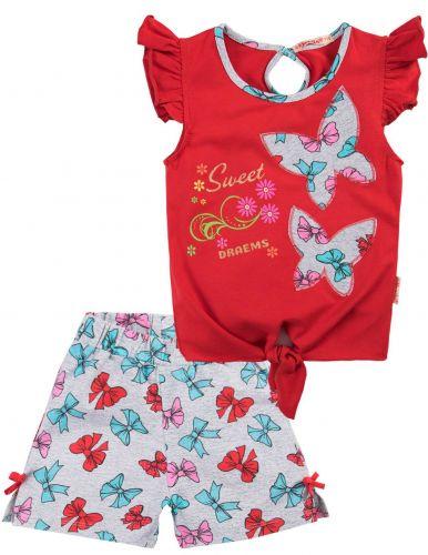 Костюм для девочек 2-5 лет Bonito BK1185F красный