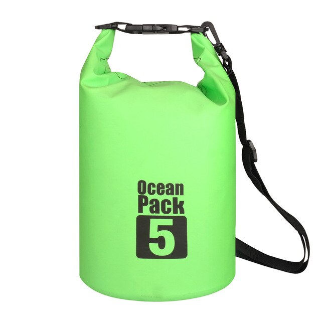 Водонепроницаемая Сумка-Мешок Ocean Pack, 5 L, Цвет Зеленый