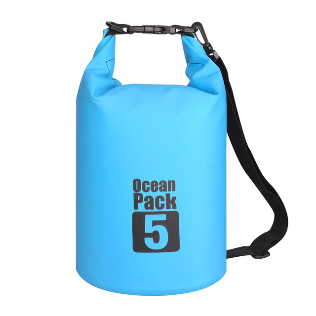Водонепроницаемая Сумка-Мешок Ocean Pack, 5 L, Цвет Голубой