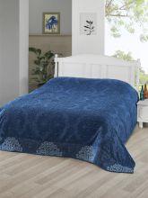 Простыня махровая жаккард OTTOMAN 160x220 см (синяя) Арт.3260-3