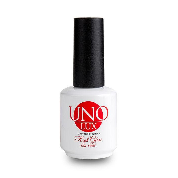 ТОП Uno Lux, High Gloss Top Coat - Верхнее покрытие (15 мл.)