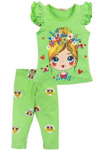 Костюм для девочек 2-6 лет Bonito BK1180KP зеленый