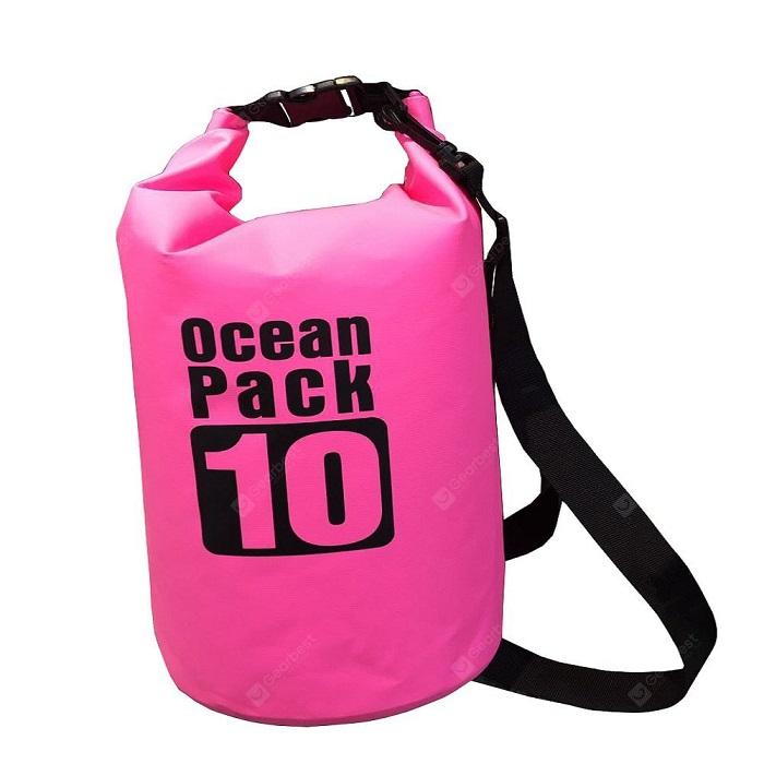 Водонепроницаемая сумка-мешок Ocean Pack, 10 L, цвет розовый
