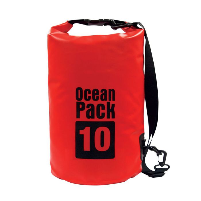 Водонепроницаемая сумка-мешок Ocean Pack, 10 L, цвет красный