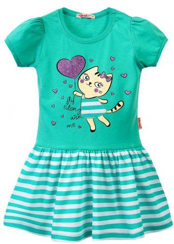 Платье на девочки 3-7 лет Bonito BK1170P зеленый