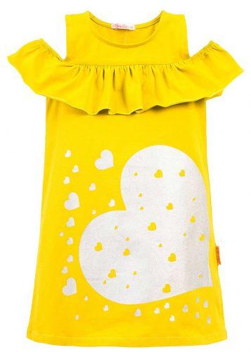Платье на девочки 7-10 лет Bonito BK1176P желтое