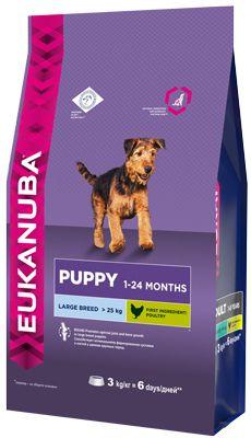 EUK Dog корм для щенков крупных пород