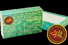 """Натуральное мыло """"Спирулина с морской солью"""" 75г"""
