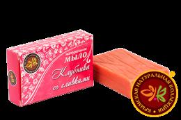 """Натуральное мыло """"Клубника со сливками"""" 75 гр"""