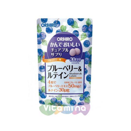 Orihiro Черника с лютеином, жевательные витамины, 120 шт.