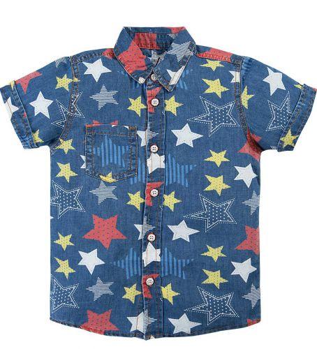 Джинсовая рубашка для мальчика 2-6 лет Bonito BK636DJ голубой