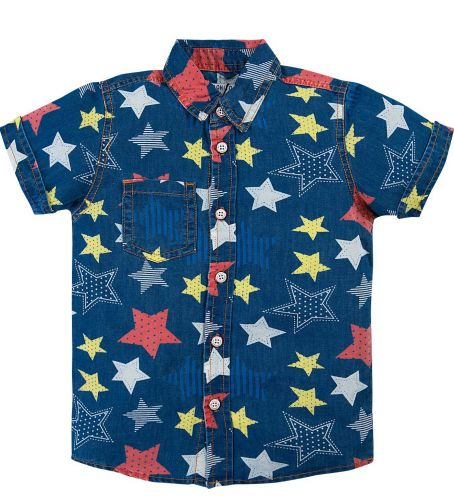 Джинсовая рубашка для мальчика 2-6 лет Bonito BK636DJ синий