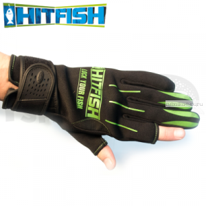 Перчатки рыболовные Hitfish Glove 01 #L (зеленый)