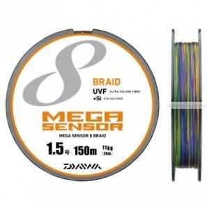 Шнур плетеный Daiwa Mega Sensor X8 Braid UVF+Si 200м/ цвет: multicolor