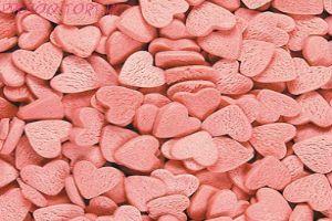Посыпка кондитерская  Сердечки розовые 50 гр.