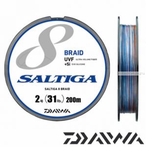 Шнур плетеный Daiwa Saltiga 8 Braid UVF+Si 200 м / цвет: multicolor