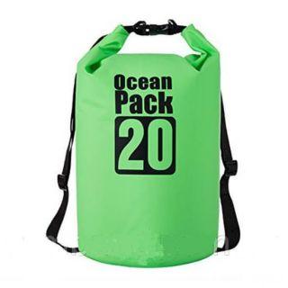 Водонепроницаемая сумка-мешок Ocean Pack, 20 L, Цвет: Зеленый